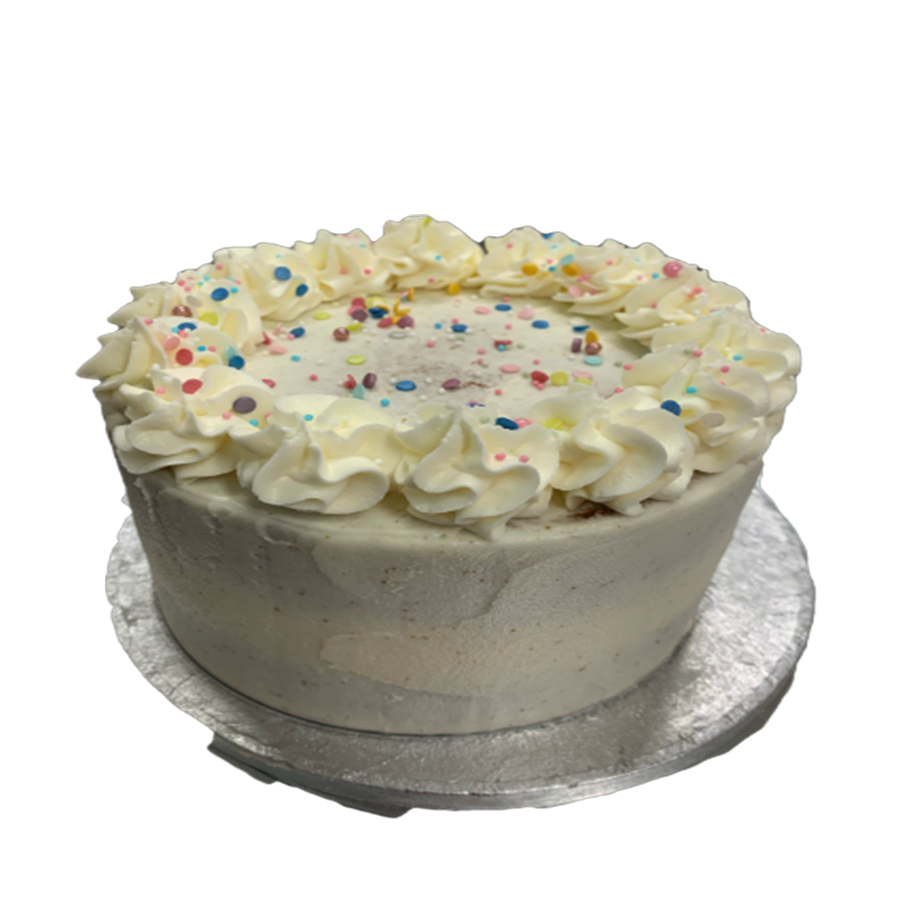 6 inch Marshmallow Frosted Cake