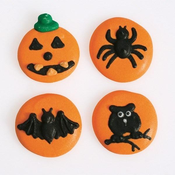 Halloween Button Sugar Pipings - 12 Piece - Single