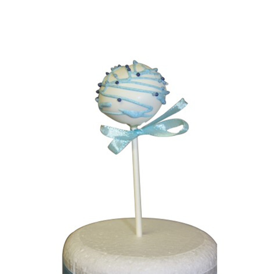 Christening Boy Cake Pop - White Stripe & Sprinkles