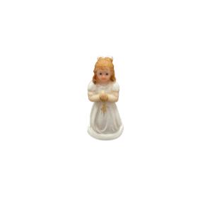 Communion Girl Cake Topper Knealing 7cm