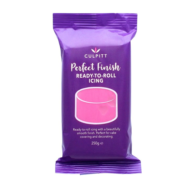 Culpitt Perfect Finish Ready To Roll Icing - Hot Pink 250g - Single