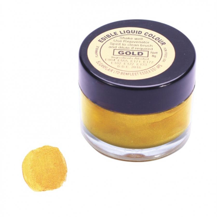 Sugarflair Edible Liquid Colour - Gold - 8g