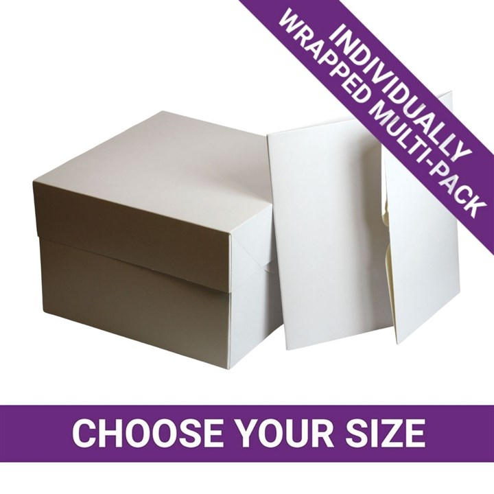 Individually Wrapped Cake Boxes - Multipack
