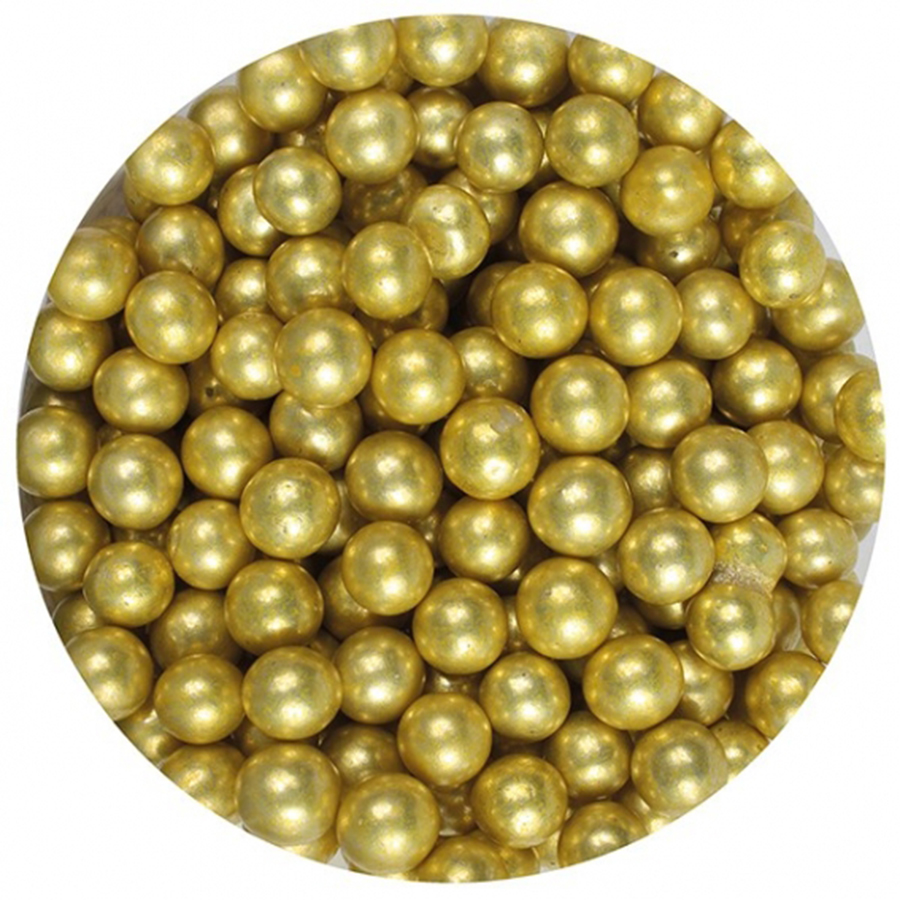 Purple Cupcakes Gold Pearls 6mm 1kg