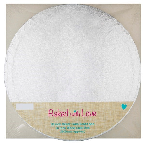 Cake Board And Box Combo 12'' By Baked With Love - Single