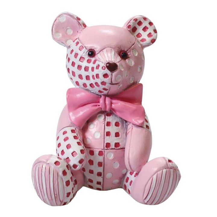 Figurine - Pink Patchwork Ted - Single