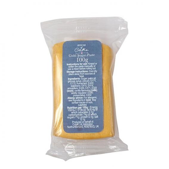 House of Cake Metallic Gold Sugar Paste 100g