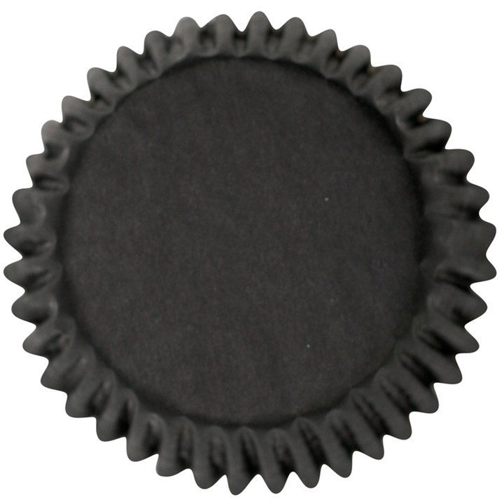 Black Plain Printed Baking Cases
