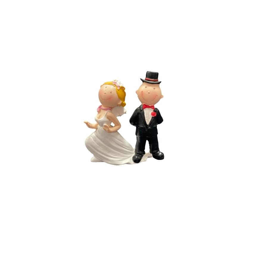 Runaway Bride Wedding Cake Topper 9cm