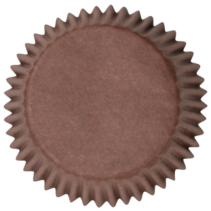 Brown Plain Printed Baking Cases