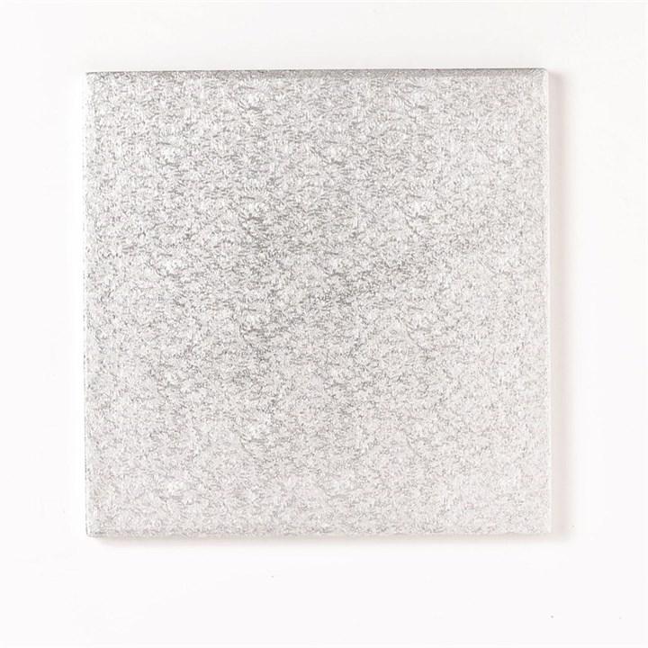 22'' (558mm) Cake Board Square Silver Fern - Single