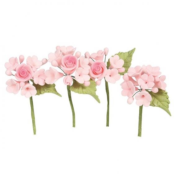House of Cake Mini Rose Spray - Pink - single