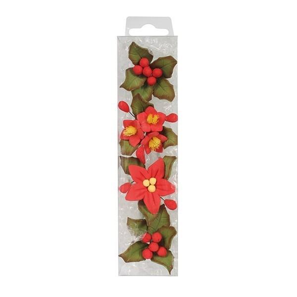 House Of Cake Mini Poinsettia Flower Spray - 4 Piece - RP - Single