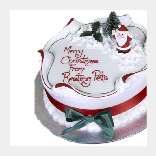 10 Inch Round Traditional Christmas Cake Style