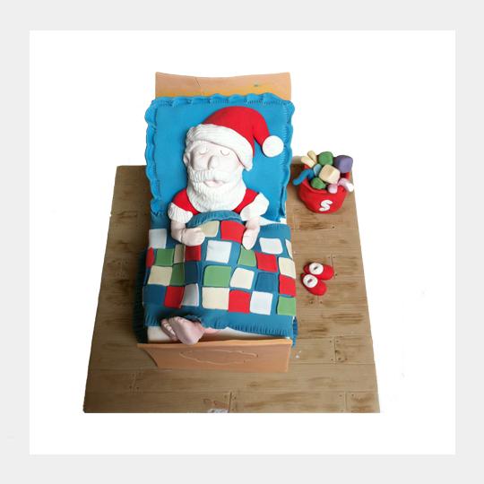 Santa In Bed