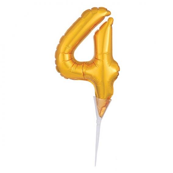 Foil Gold Cake Balloon - 4 -150mm (6'') - single