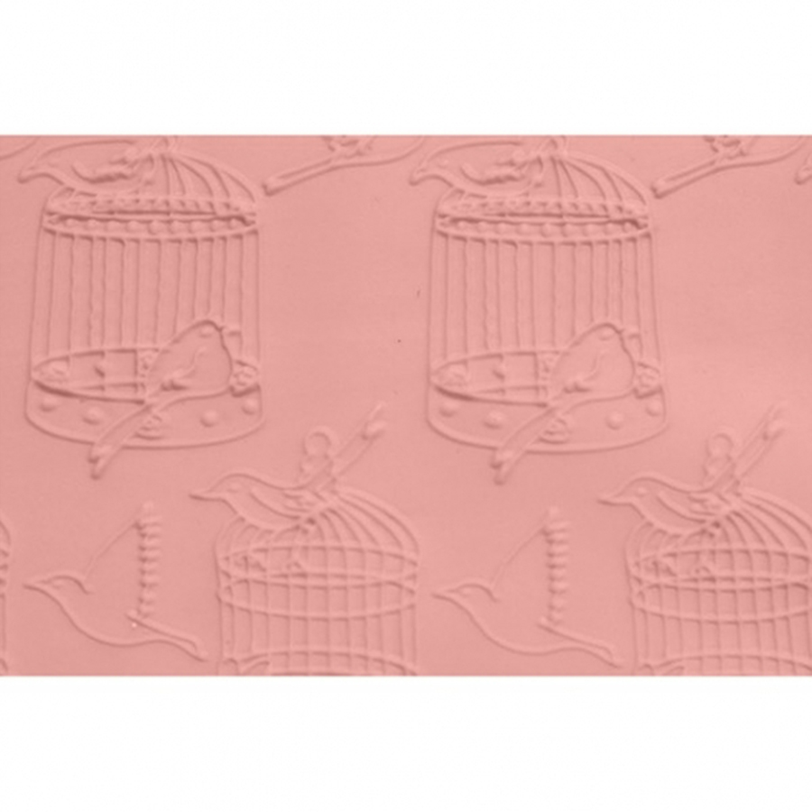 FMM Embossed Rolling Pin - Bird Cage