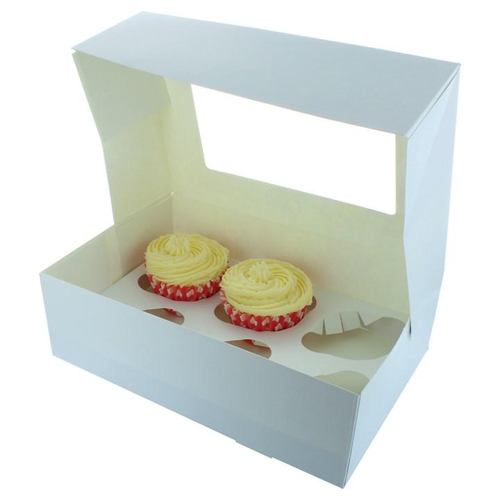 White 6 Cupcake/Muffin Box - Single