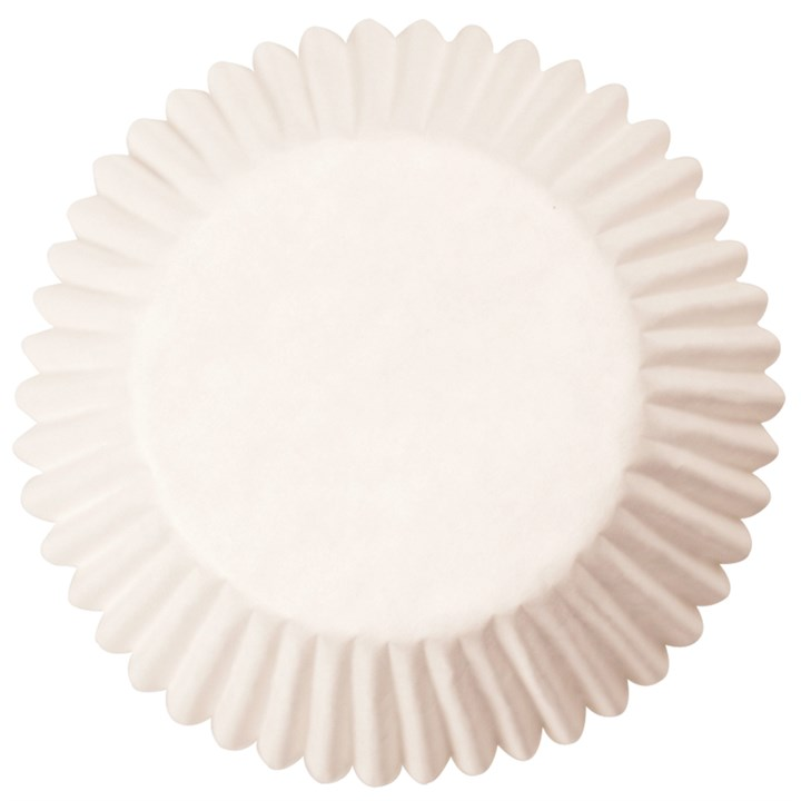 White Plain Printed Baking Cases