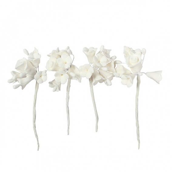 House of Cake Mini Rose Spray - White - single