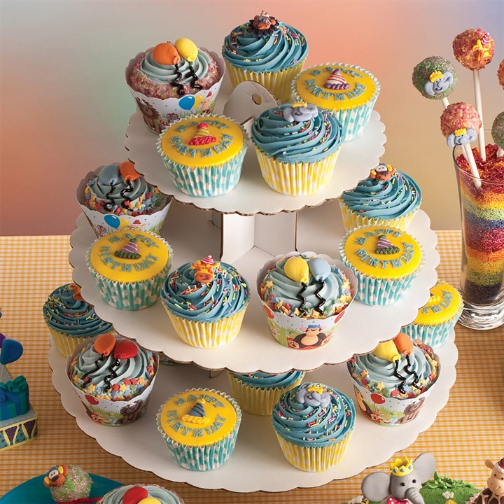 3 Tier White Cupcake Stand - Single