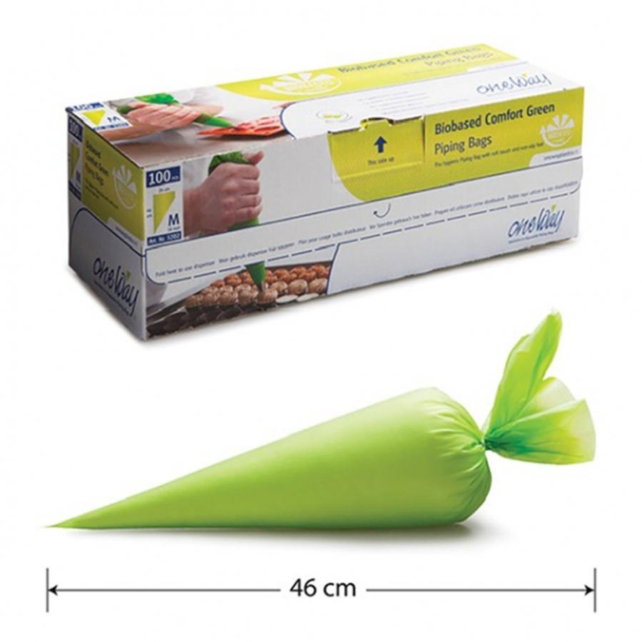 Biobased Comfort Green Piping Bag, pack of 100.