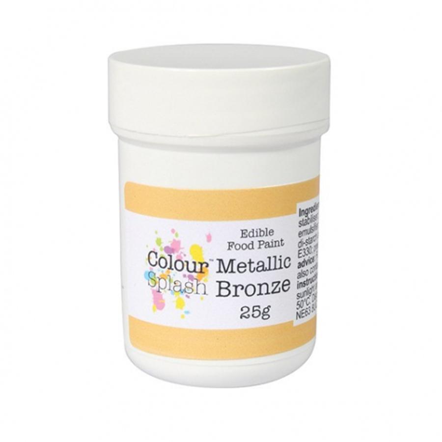 Colour Splash Edible Paint - Metallic Bronze