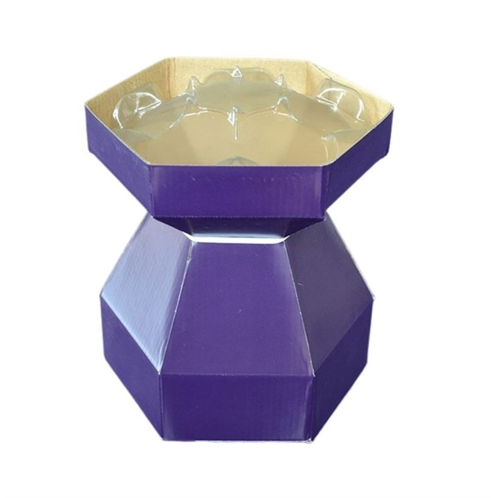 Purple Cupcakes Cupcake Bouquet Box - Purple