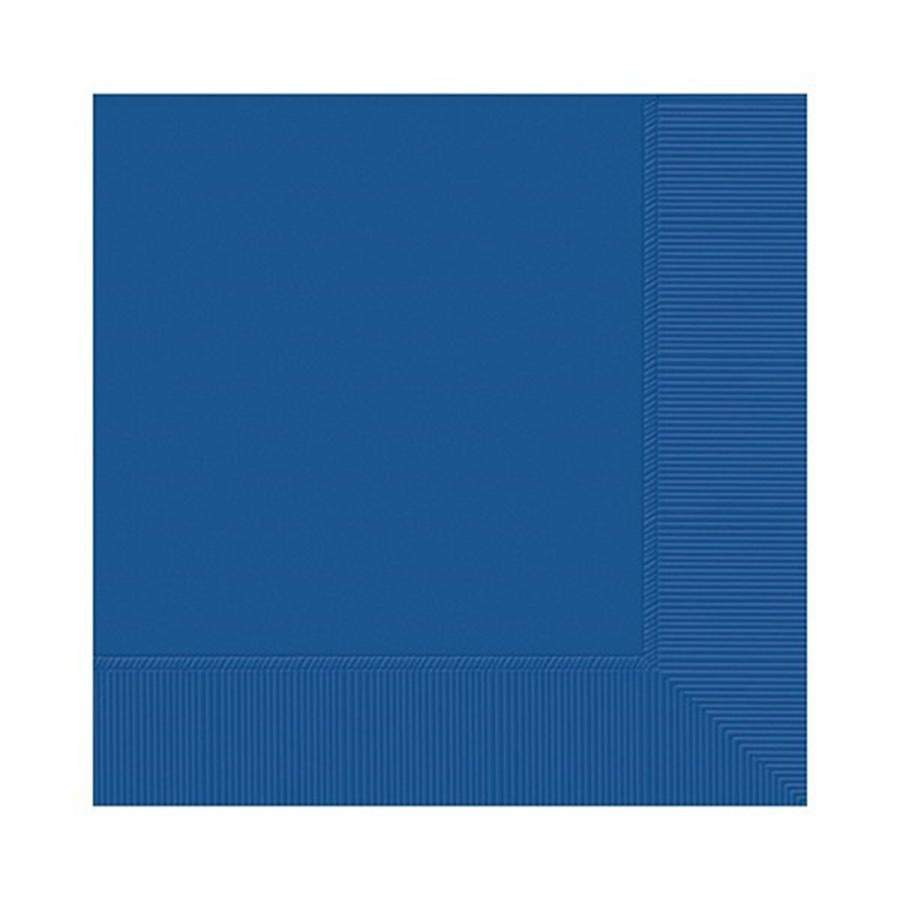 Royal Blue Party Napkins - single