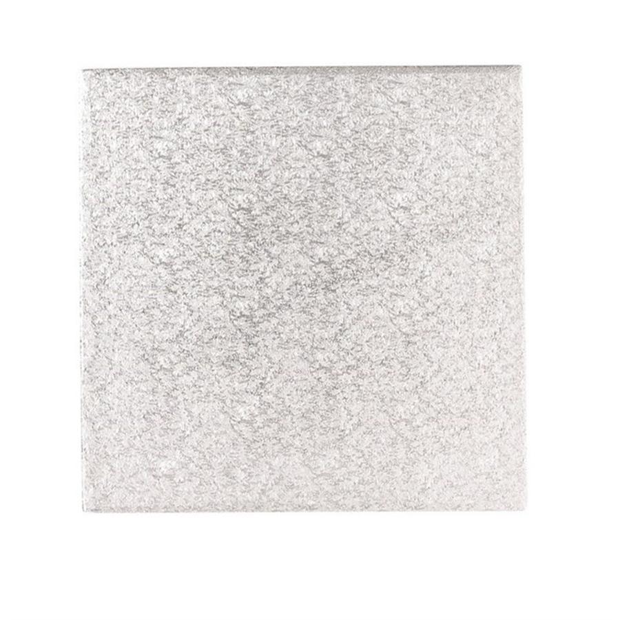 10'' (254mm) Cake Board Square Silver Fern